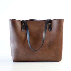 Large Classic Tote - Chocolate Brown Leather