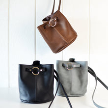 Load image into Gallery viewer, Boho Bucket Bag (crossbody bag) - Brown Leather