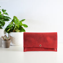 Load image into Gallery viewer, Wallet Clutch - Red Leather