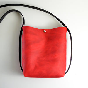 Mini Crossback (crossbody + backpack) - Red Leather