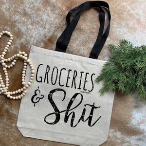 Groceries & Sh!t Canvas Bag