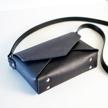 Load image into Gallery viewer, Envelope Bag - Black Leather