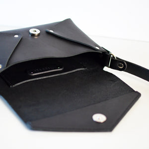 Envelope Bag - Black Leather