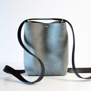 Mini Crossback (crossbody + backpack) - Grey Leather