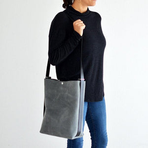 Crossback (crossbody + backpack) - Grey Leather
