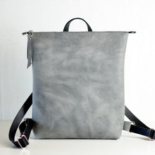 Load image into Gallery viewer, Minimalist Backpack - Grey Leather