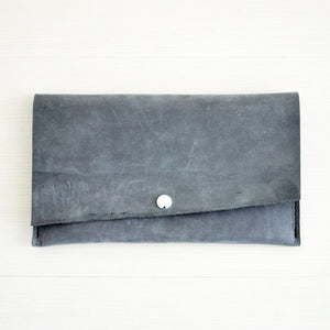 Wallet Clutch - Grey Leather