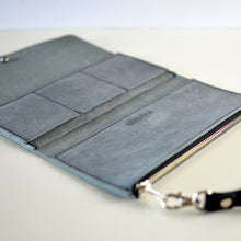 Load image into Gallery viewer, Wristlet Wallet Clutch - Grey Leather
