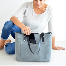 Load image into Gallery viewer, Large Classic Tote - Grey Leather
