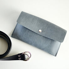 Load image into Gallery viewer, Hipster Bag (Fanny Pack + Clutch) - Grey Leather
