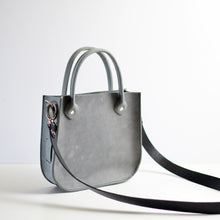 Load image into Gallery viewer, Handbag + Removable Strap - Grey Leather