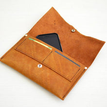 Load image into Gallery viewer, Wallet Clutch - Honey Leather