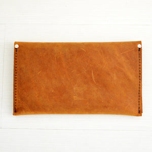 Wallet Clutch - Honey Leather