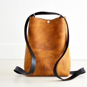 Crossback (crossbody + backpack) - Honey Leather