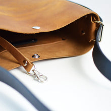 Load image into Gallery viewer, Mini Crossback (crossbody + backpack) - Honey Leather