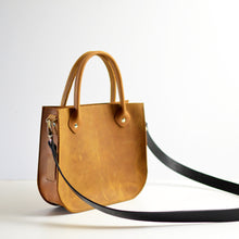 Load image into Gallery viewer, Handbag + Removable Strap - Honey Leather