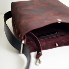 Load image into Gallery viewer, Mini Crossback (crossbody + backpack) - Merlot Leather