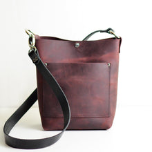 Load image into Gallery viewer, Small Convertible Crossbody - Merlot Leather