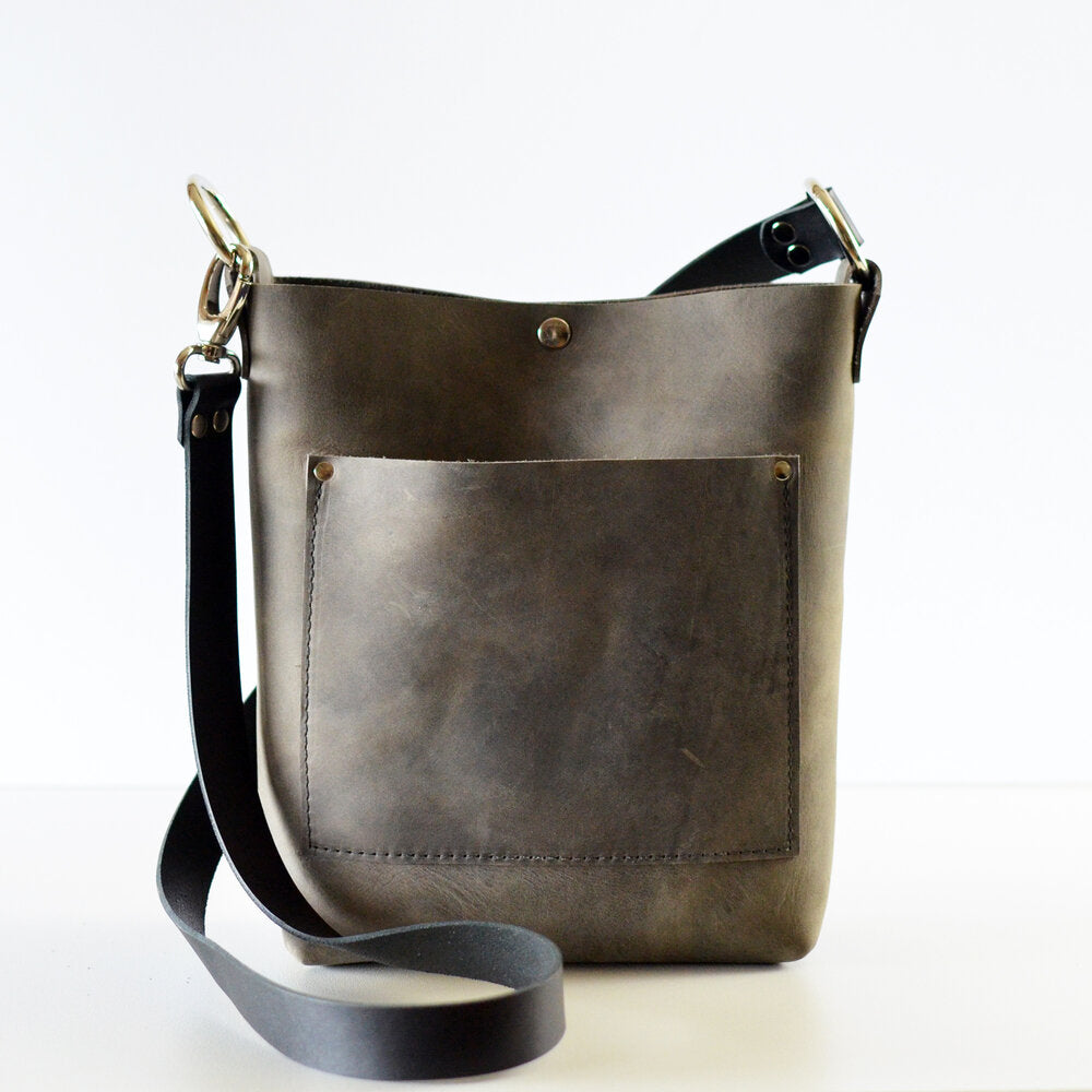 Small Convertible Crossbody - Slate Leather