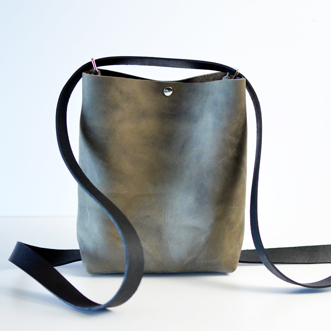 Mini Crossback (crossbody + backpack) - Slate Leather