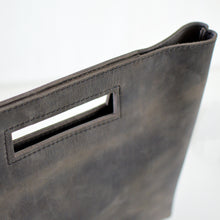 Load image into Gallery viewer, Cutout Handle Bag - Slate Leather