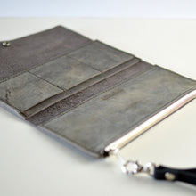 Load image into Gallery viewer, Wristlet Wallet Clutch - Slate Leather