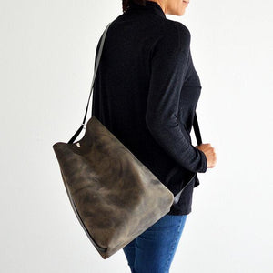 Crossback (crossbody + backpack) - Slate Leather