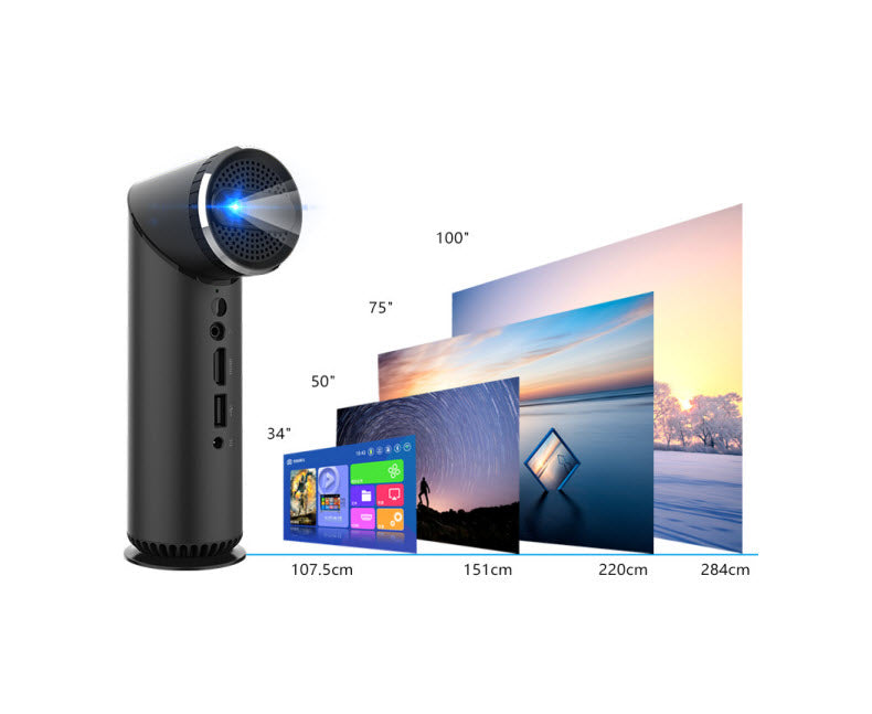 Pico Genie Periscope Plus 2.0 Portable Projector with HDMI & Swivel Lens 1200 Lumens (OPEN BOX)