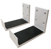 Vividstorm Wall Mount Brackets for Electric Tension Floor Rising Screen (1 Pair)