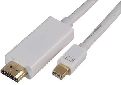 White DisplayPort to HDMI 3m Cable