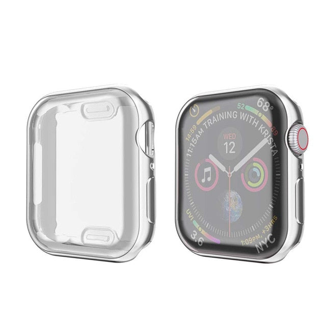 Silver Metallic iWatch Cover
