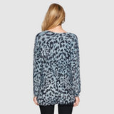 Leopard Print Knit Sweater