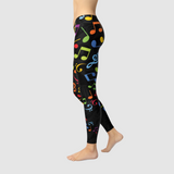 Colorful Music Notes Leggings
