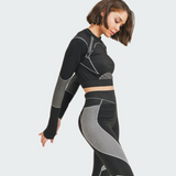Flex Long Sleeve Crop Top & Leggings Set