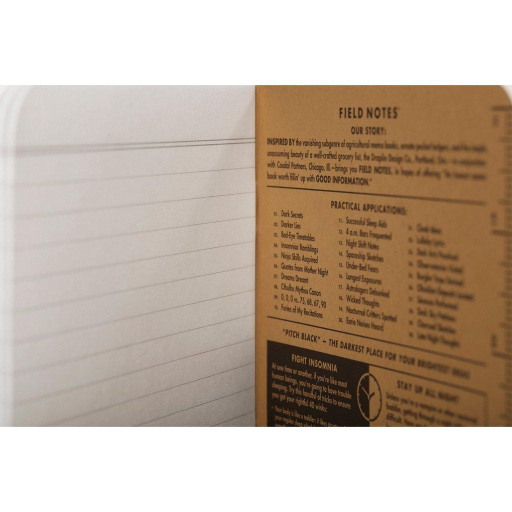 Field Notes Pitch Black LARGE -muistikirja (2-pack) - Kuva 10