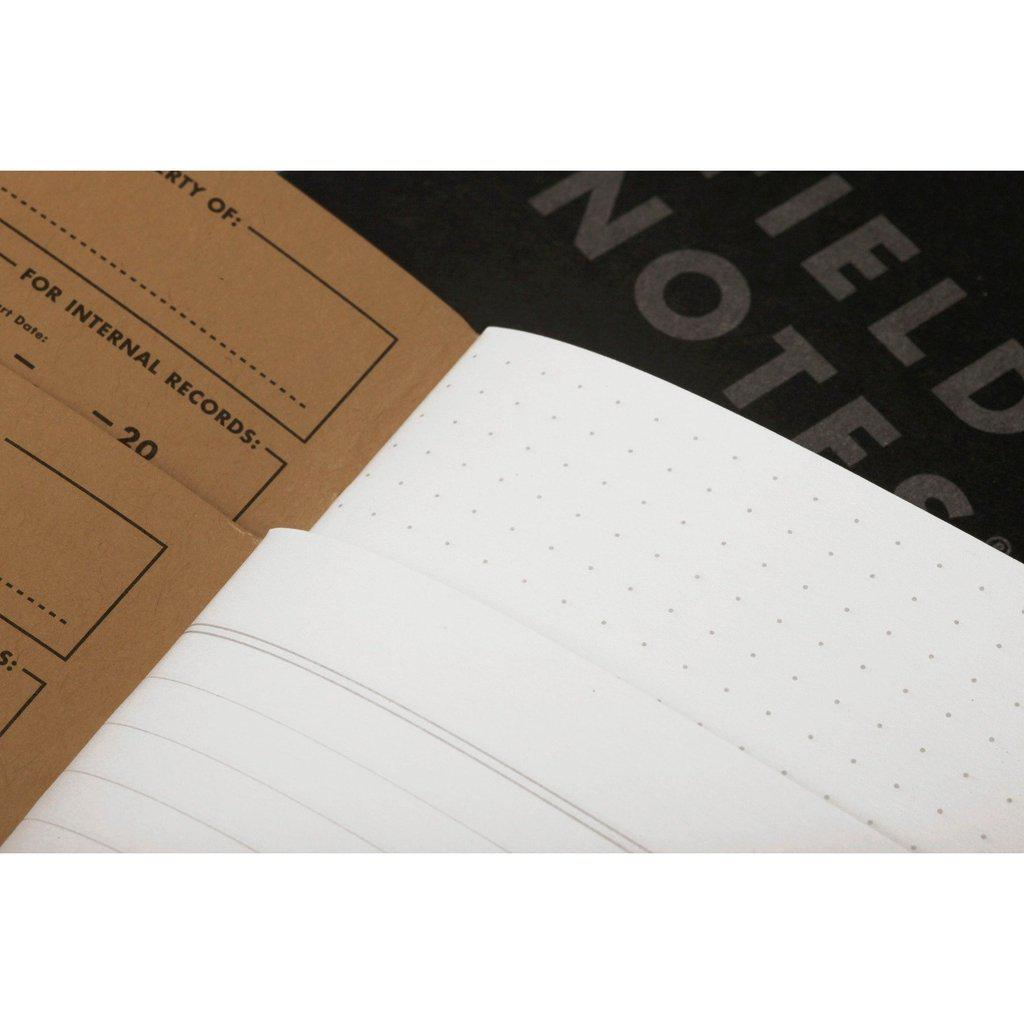 Field Notes Pitch Black LARGE -muistikirja (2-pack) - Kuva 2