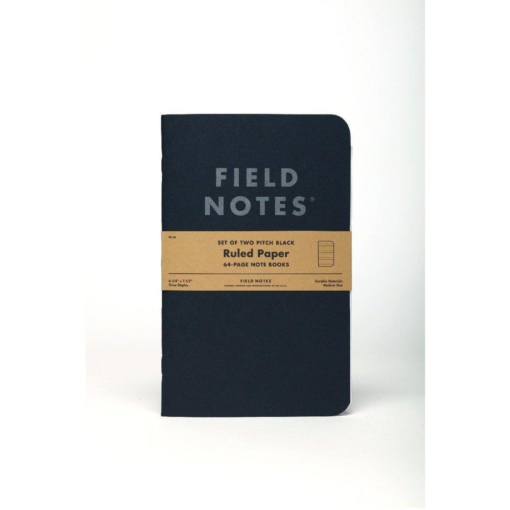 Field Notes Pitch Black LARGE -muistikirja (2-pack) - Kuva 4