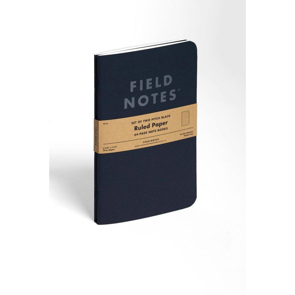 Field Notes Pitch Black LARGE -muistikirja (2-pack) - Kuva 5