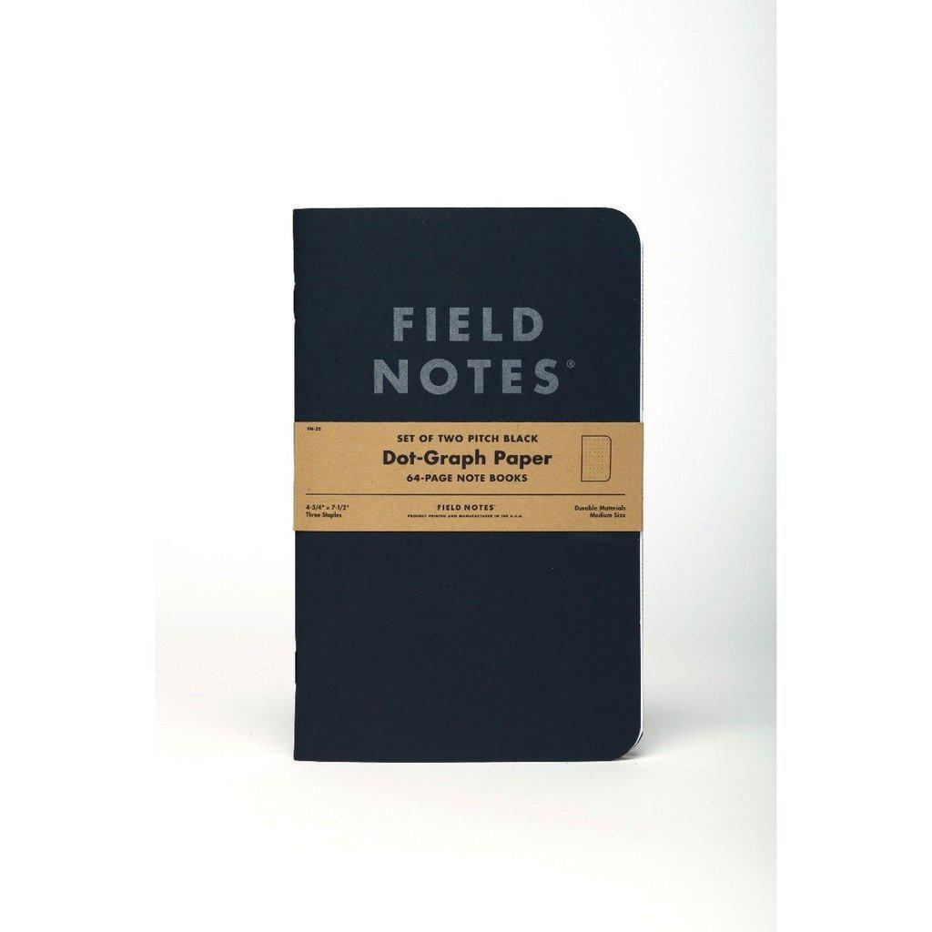 Field Notes Pitch Black LARGE -muistikirja (2-pack) - Kuva 6