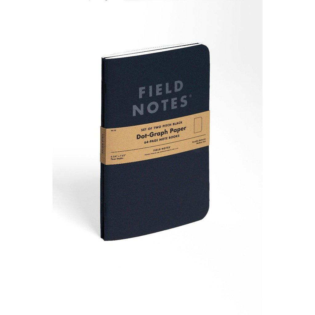 Field Notes Pitch Black LARGE -muistikirja (2-pack) - Kuva 7