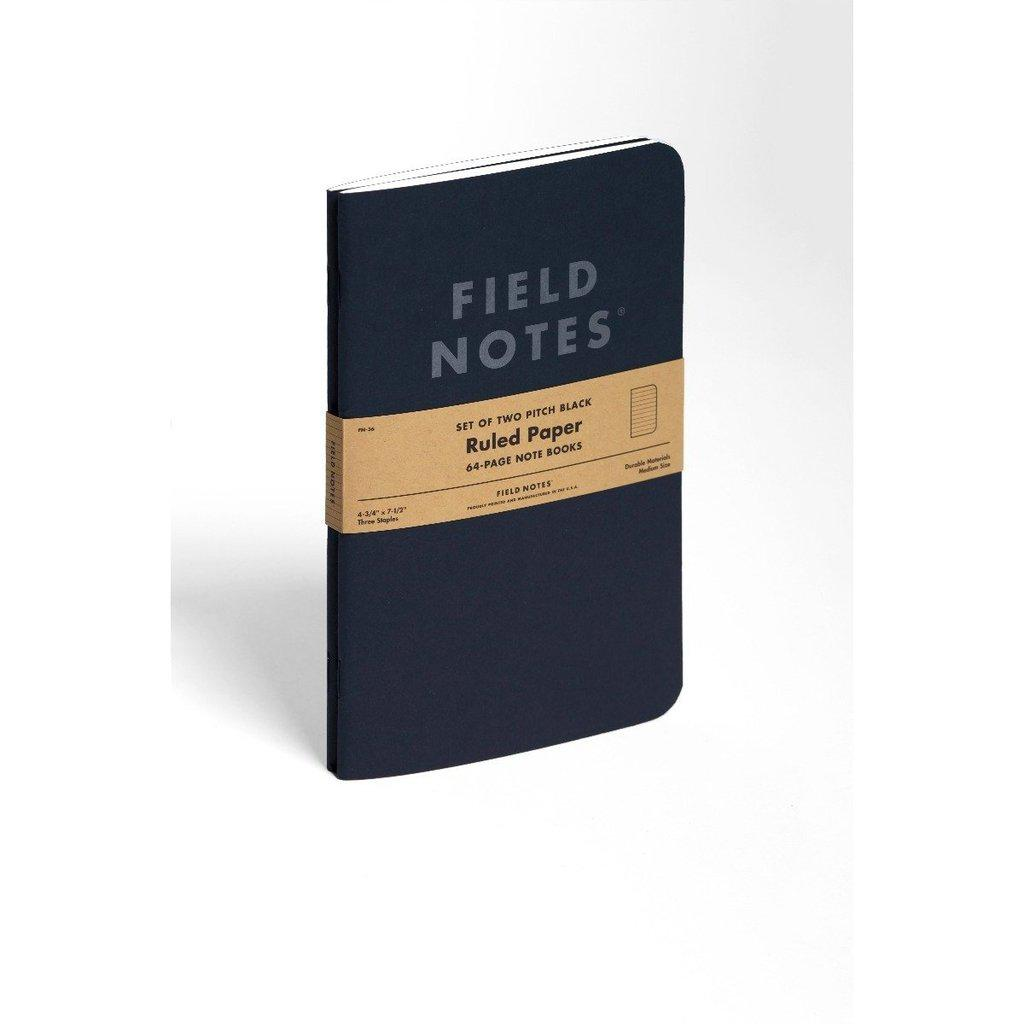 Field Notes Pitch Black LARGE -muistikirja (2-pack) - Kuva 13