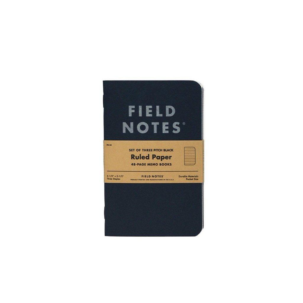 Field Notes Pitch Black muistivihko (3-Pack) - Kuva 1