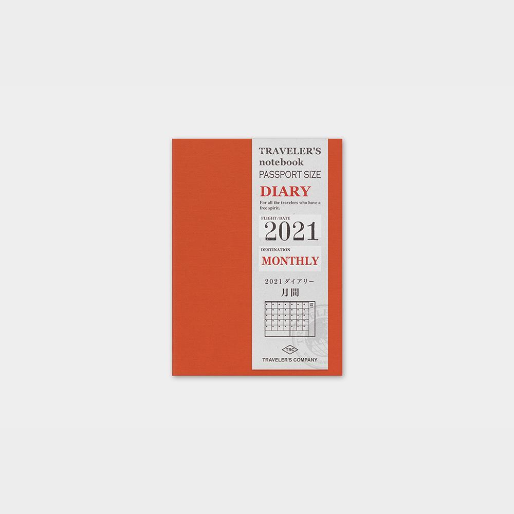 Traveler's Company - 2021 Monthly Diary Refill (Passport) - Kuva 1