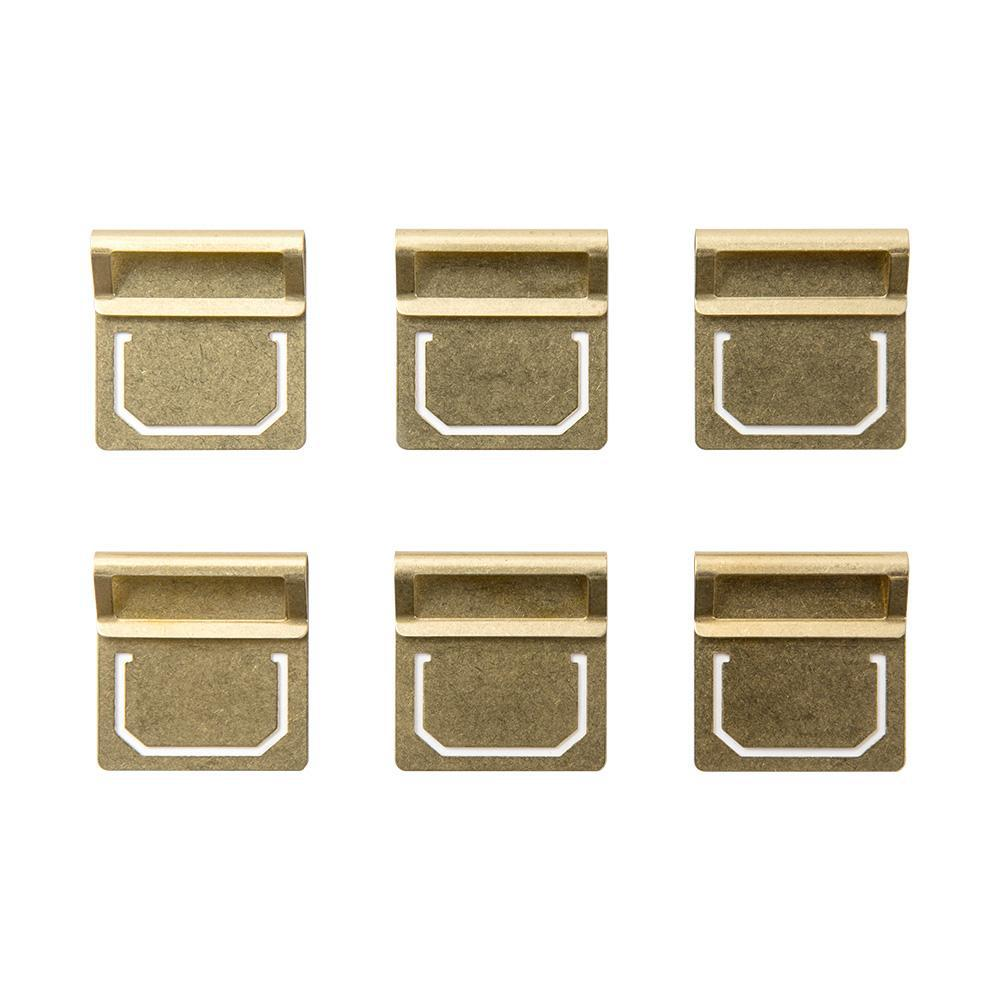 Traveler's Company Brass Index Clips (6 kpl) - Kuva 1