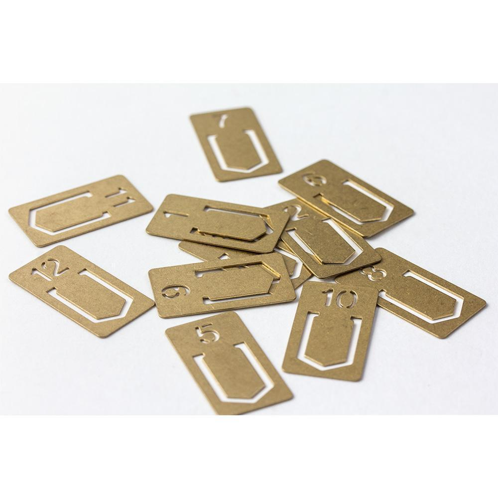 Traveler's Company Brass Numbered Clips (12 kpl) - Kuva 4