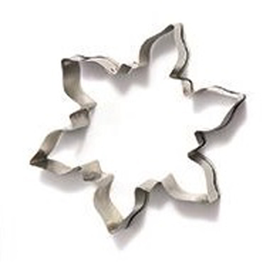 6 point snowflake cookie cutter close up