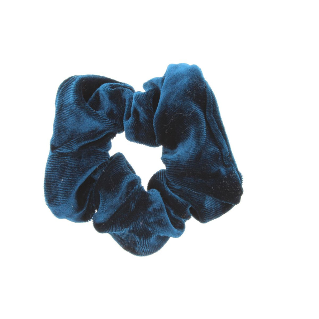 Cobalt scrunchie on white background