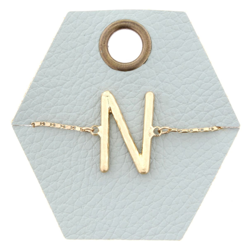 Say My Name Bracelet N Initial Adjustable Bracelet