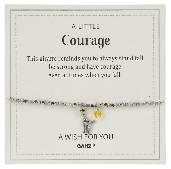 Courage bracelet and charm