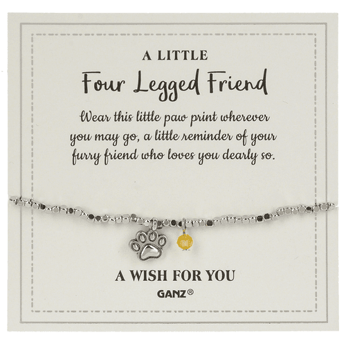 Four Legged Friend bracelet and charm